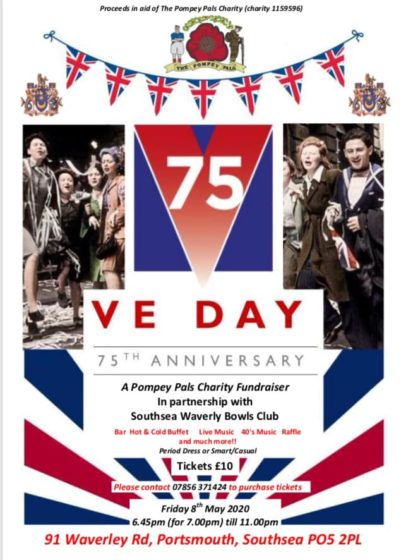 Pompey Pals Charity, 75th Anniversary VE Day Party @ Waverley Bowls Club | Portsmouth | England | United Kingdom