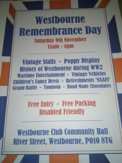 Westbourne Remembrance Day @ Westbourne Club | Westbourne | England | United Kingdom
