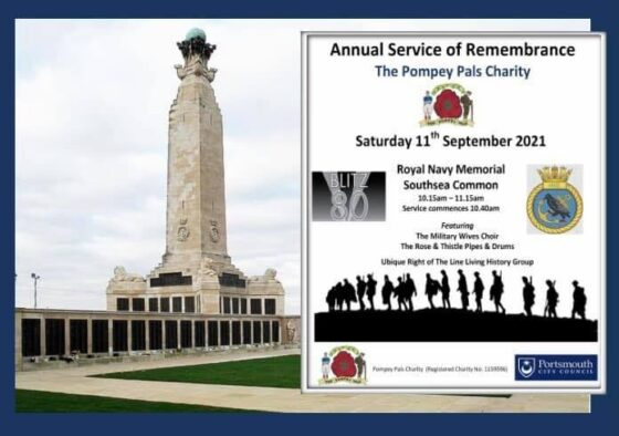 Pompey Pals Annual Service of Remembrance @ Portsmouth Naval Memorial | Portsmouth | England | United Kingdom